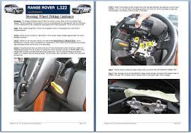 land rover wooden heated steering wheel lined oak wood veneer for range rover l322