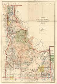 map of idaho map of idaho 1899 wall map barry ruderman