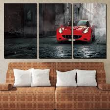 online get cheap jessica biel poster aliexpress com alibaba group 3 panels canvas art red california ferrari home decor wall art painting canvas prints pictures for