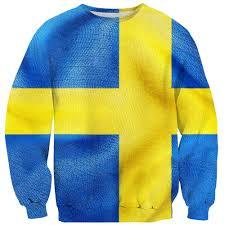 swedish flag sweater shelfies