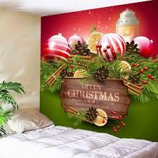colormix w59 inch l51 inch wall art merry christmas balls print