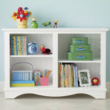 White Low Bookshelf Kids Bookcases Kids Honey Cottage Style Low Beadboard Bookcase
