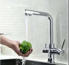 Kitchen Filter Faucet Brass Two Handles Kitchen Sink Water Filter Faucet With Drinking