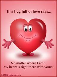 hug send across your message with this ecard huggie