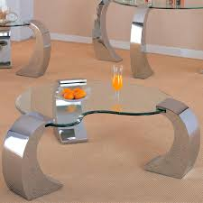 Kentwood Office Furniture by Coaster Custer Contemporary Cocktail Table With Metal Base And