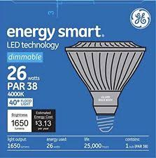 led26dp38s830 25 120v ge par38 led light bulbs with dimmable ebay