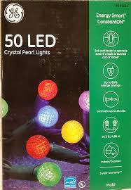 ge multi color pearl light set led