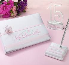 guest book and pen set our quinceanera guest book is covered in white satin and is