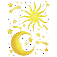 spirit 25 5 in x 33 5 in stars and moon wall decal 350 0114 stars and moon wall decal