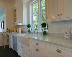 Marble Subway Tile Kitchen Backsplash Archaic Brown Color Subway Tile Kitchen Backsplash Featuring