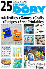 finding dory crafts activities games recipes free