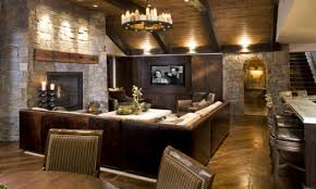 comfortable office furniture rustic basement living room ideas