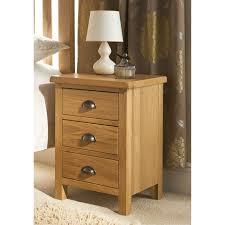 Oak Veneer Bedroom Furniture by B U0026m Wiltshire Oak 3 Drawer Bedside 319188 B U0026m