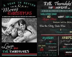 year in review christmas card christmas card year in review template business template