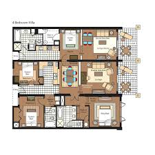 aulani floor plan 3 bedroom villa floor plans floor plans bedroom villa plan for