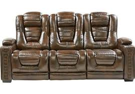 749 99 bluff springs brown reclining sofa contemporary polyester