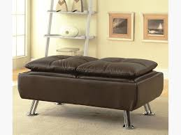faux leather ottoman with reversible tray tops