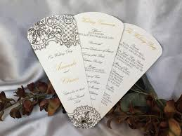 fan program intricate lace petal fan wedding program the wedding sophisticate