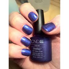 cnd creative nail design shellac power polish purple purple