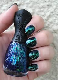 nfu oh blue and green flake polish this is the prettiest nail