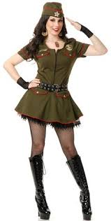womens army dress military army costumes for women