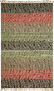 Solid Black Area Rugs Striped Leather Chindi Rug From Matador By St Croix Plushrugs Com