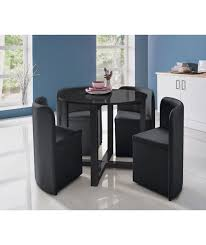 white space saver table attractive space saver dining table sets buy hygena black gloss