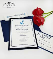 blue wedding invitations navy blue wedding invitation rsvp cards set of 10 vip craft