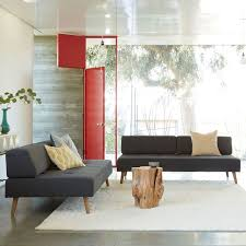 2 Sofas In Living Room by Retro Tillary 2 Sofa Sectional West Elm