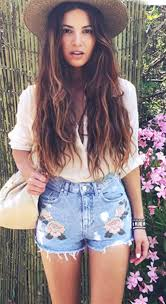 high waist 3d rose flower embroidery casual denim shorts country