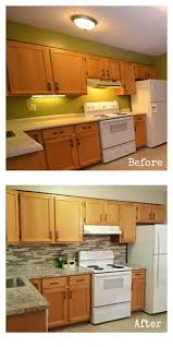 kitchen backsplash with oak cabinets and white appliances a honey oak kitchen with white appliances a 4 day 1 000