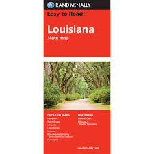 Louisiana State Map by Rand Mcnally Easy To Read State Folded Map Louisiana