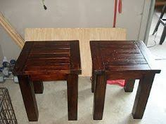 Build Wood End Tables by 2x4 End Table With Walnut Stain Woodworking Projects Pinterest