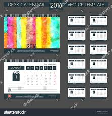 coloured templates design desk calendar 2016 vector templates stock vector 346585607