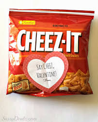 cheez it crackers valentine u0027s day gift bag idea for kids
