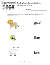 reading comprehension worksheet free kindergarten english