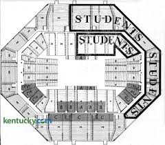 Arena Floor Plans by First Rupp Arena Seating Chart 1976 Kentucky Photo Archive
