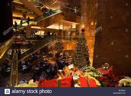 Trump Tower Inside Christmas Atrium Trump Tower Shopping Mall Fifth Avenue Manhattan
