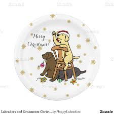 labradors and ornaments christmas paper plates christmas paper