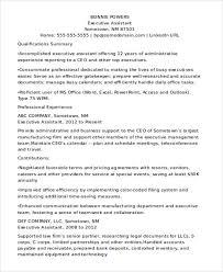 Ceo Assistant Resume 31 Executive Resume Templates In Word Free U0026 Premium Templates