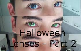 review halloween lenses zombie dragon and space blue part 2