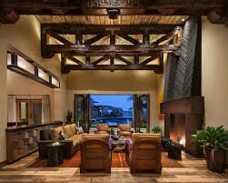Home Ceiling Interior Design Photos Rustic Resort Style Home Designed For On The Go Family Angelica
