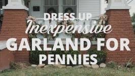 dress up inexpensive garland hgtv