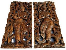 wood wall sculptures thai wood carving home decor carved wood panels asiana