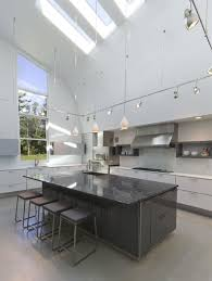interior modern open floor kitchen decoration using double