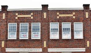window posters pittsfield s empty set projects joins gun debate with window
