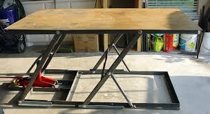 homemade scissor lift table u2013 scissor lift