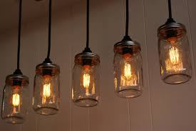 Edison Pendant Lights Five Clear Glass Bottle Pendant L Design In Edison Style With