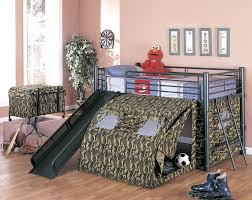 amazon com coaster home furnishings kids camo tent twin loft bunk