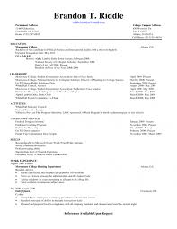 Resume For Admissions Counselor Samples Of Resumes For College Students Sample Resume For College